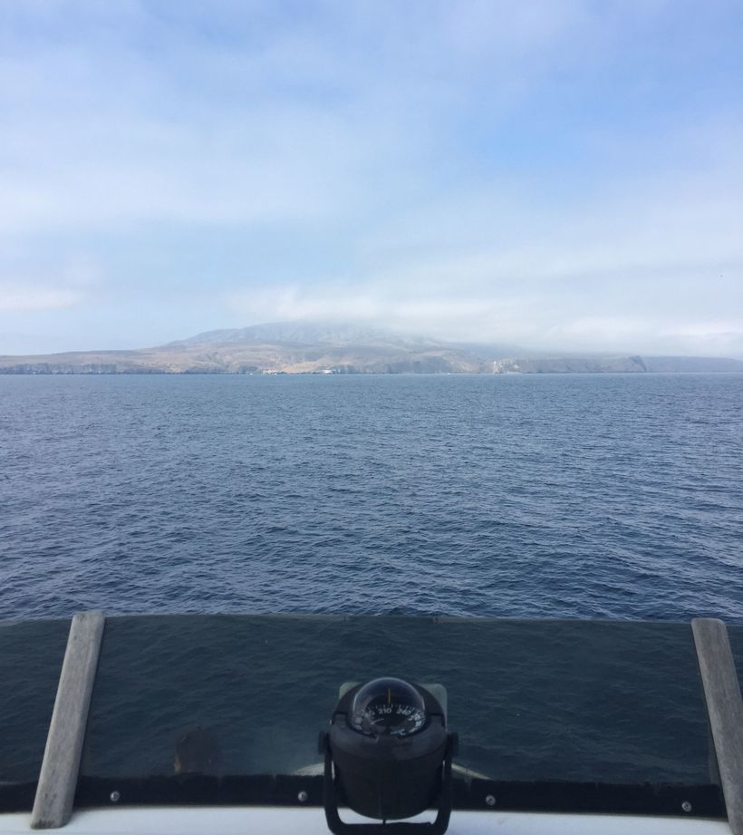 Arriving at Santa Cruz Island