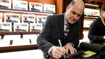 BEVERLY HILLS, CA - FEBRUARY 23:  Creator/writer Matthew Weiner signs books during the launch for Matthew Weiner's Book 'Mad Men' at TASCHEN Store Beverly Hills on February 23, 2017 in Beverly Hills, California.  (Photo by Frazer Harrison/Getty Images)