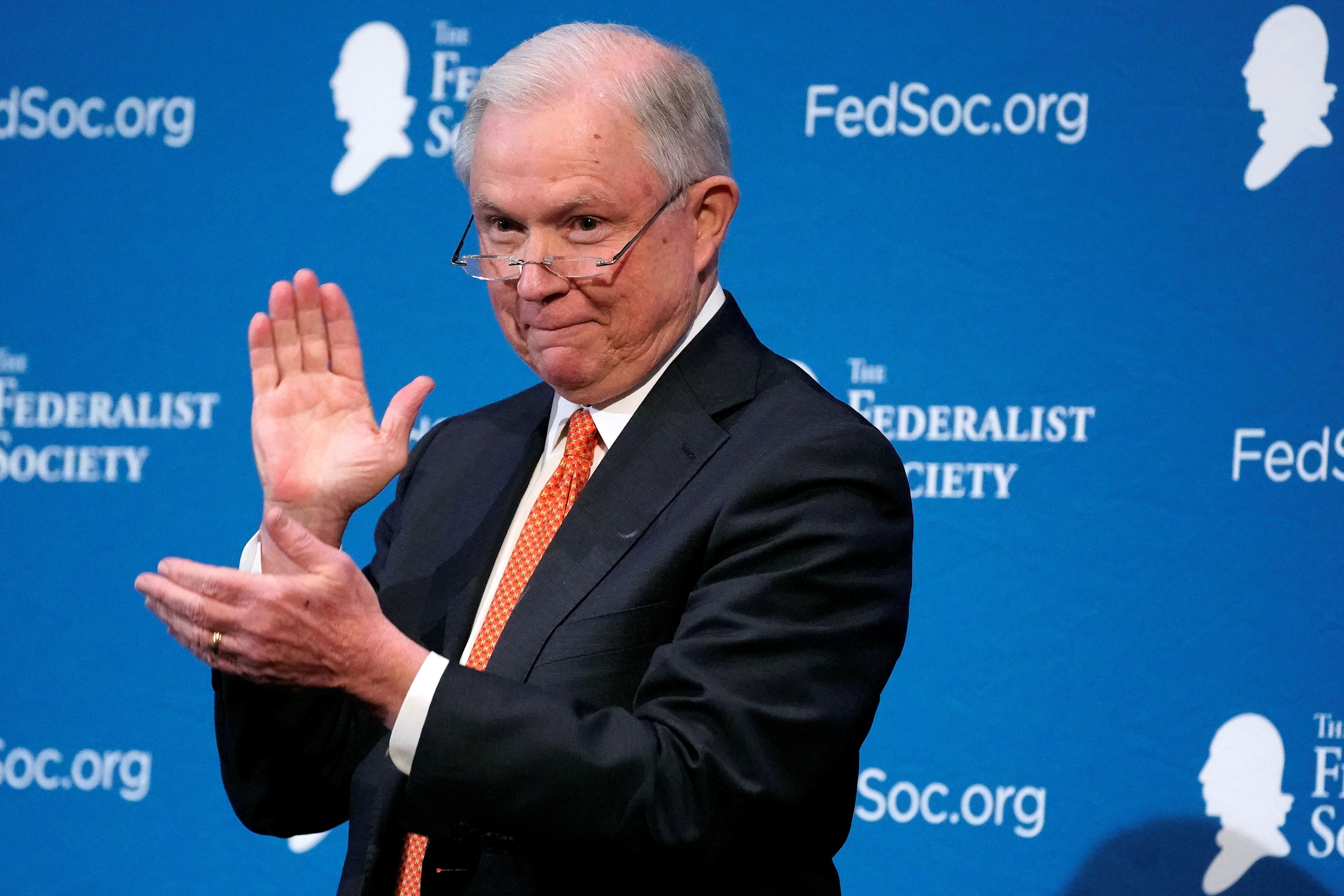 Jeff Sessions laughs it up