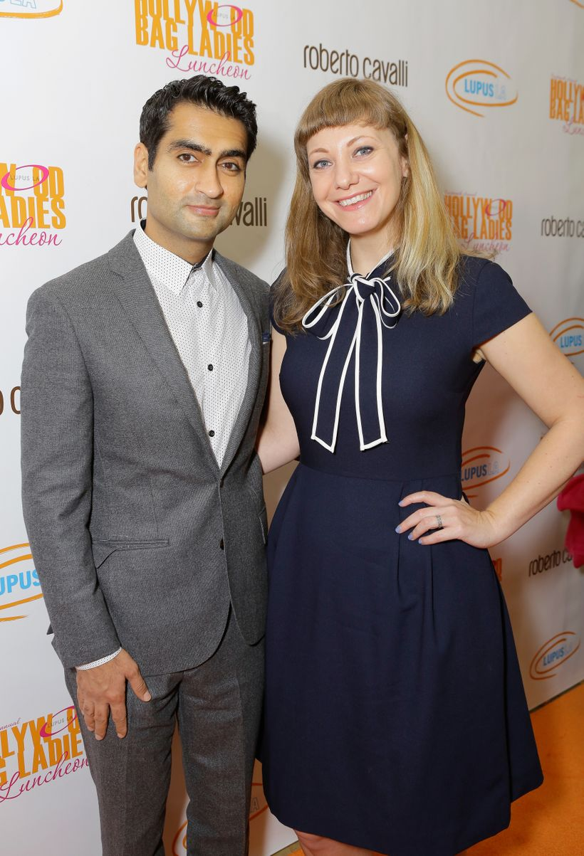 Kumail Nanjiani and Honoree Emily V. Gordon at the Lupus LA Hollywood Bag Ladies Luncheon