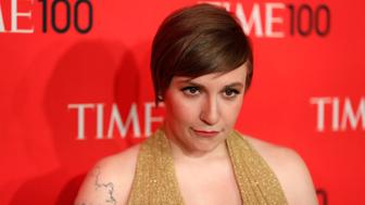 Actress Lena Dunham arrives for the Time 100 gala celebrating the magazine's naming of the 100 most influential people in the world for the past year, in New York, April 23, 2013. REUTERS/Lucas Jackson (UNITED STATES - Tags: ENTERTAINMENT)