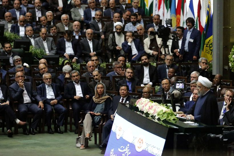 High Representative for the EU's Foreign Affairs and Security Policy, Federica Mogherini, visited Iran for the country&#3