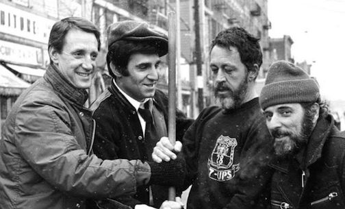 <strong><em>Roy Scheider (l) played Sonny Grosso (r) in The French Connection and The Seven-Ups</em></strong>