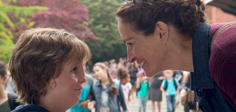"Jacob Tremblay and Julia Roberts in ""Wonder"""