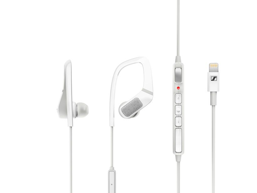 Each Ambeo earphone fits over each ear to position its omni-directional microphone to hear sound like we do