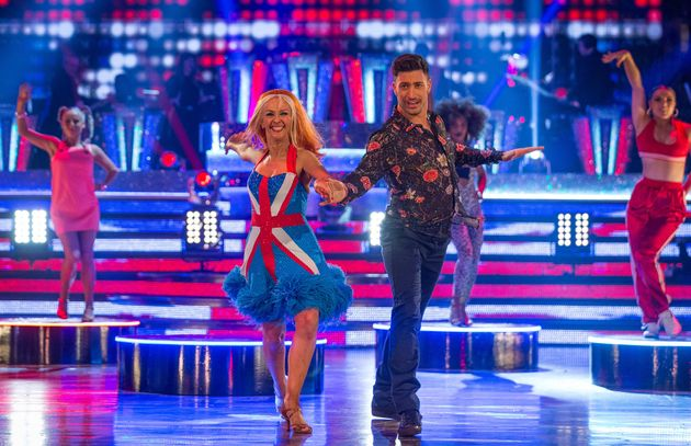 Debbie McGee and Giovanni Pernice were saved by the