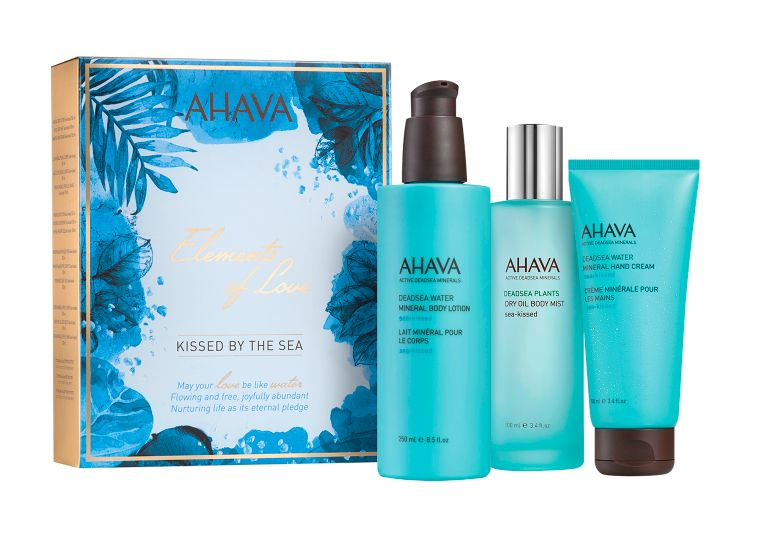 "Kissed by the Sea Collection from <a rel=""nofollow"" href=""https://www.ahava.com/kissed-by-the-sea"" target=""_blank"">AHAVA</a>."