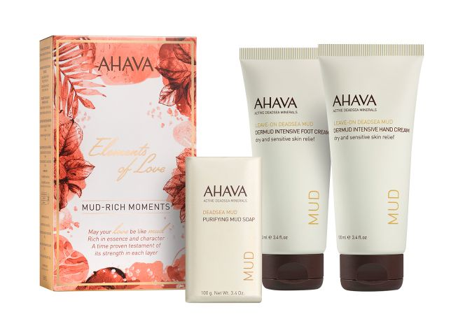 "Mud-Rich Moments Set from <a rel=""nofollow"" href=""https://www.ahava.com/mud-rich-moments"" target=""_blank"">AHAVA</a>."
