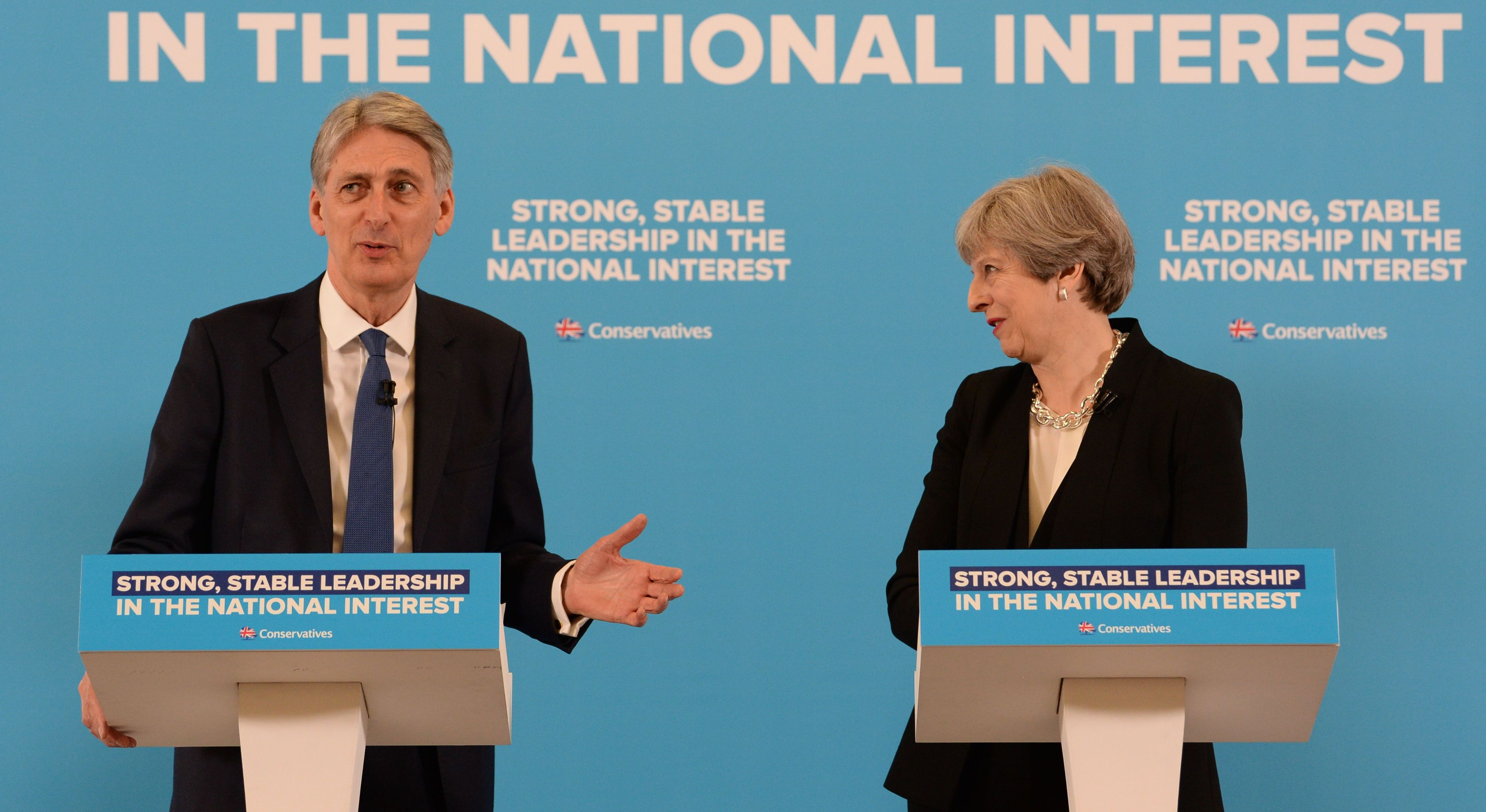 Theresa May and Philip Hammond will visit the West Midlands together on Monday.