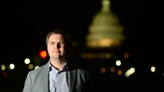 WASHINGTON, DC - JANUARY 27: J.D. Vance, author of the book 'Hillbilly Elegy,' poses for a portrait photograph near the US Capitol building in Washington, D.C., January 27, 2017. Vance has become the nation's go-to angry, white, rural translator. The book has sold almost half a million copies since late June. Vance, a product of rural Ohio, a former Marine and Yale School grad, has the nation's top-selling book. He's become a CNN commentator, in-demand speaker, and plans to move back to Ohio from SF where he's worked as a principal in an investment firm. (Photo by Astrid Riecken For The Washington Post via Getty Images)