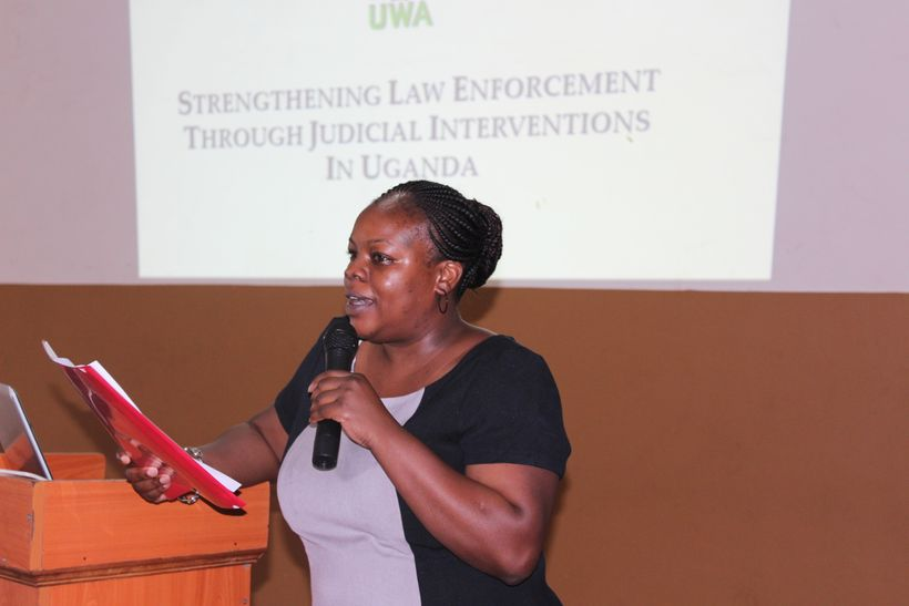 Didi Wamukoya, legal expert trained in prosecuting wildlife cases, trains other members of law enforcement to ensure traffick