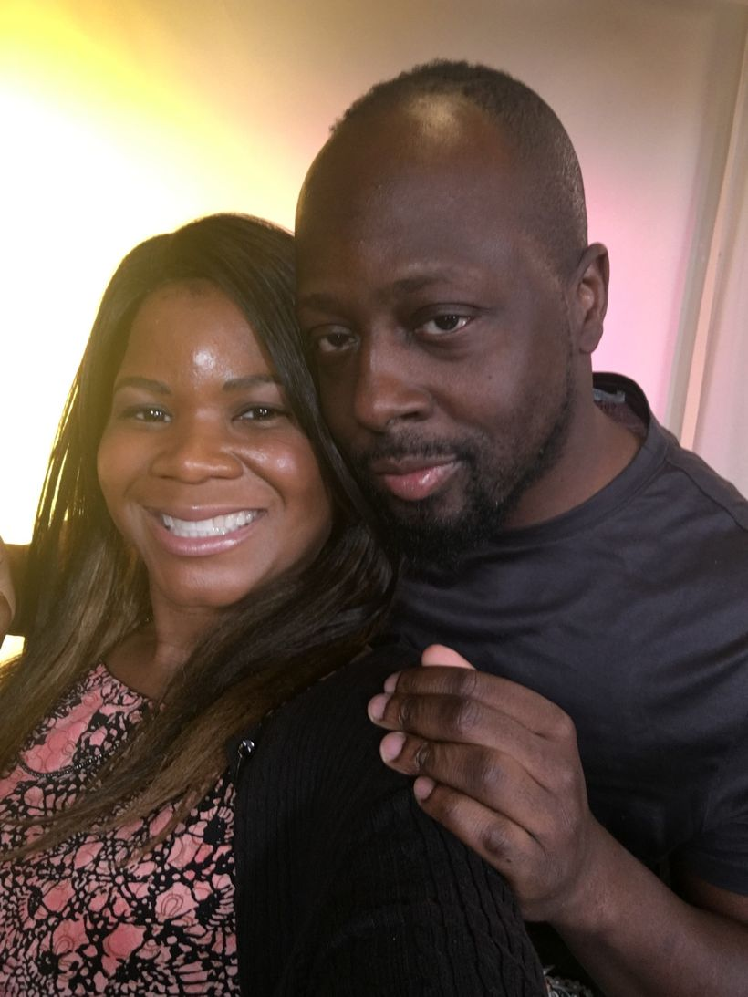 """Alonda Thomas and Wyclef Jean pause for a quick selfie during the """"Unsung"""" Season 11 press tour."""