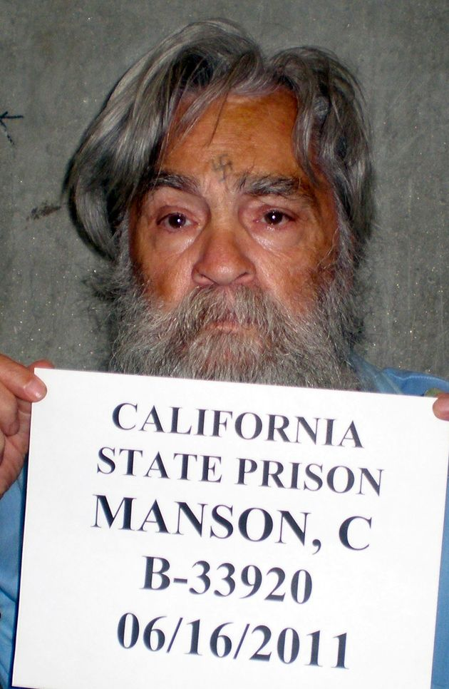 By the age of 13 Manson had already been convicted of armed robbery; he is pictured above in