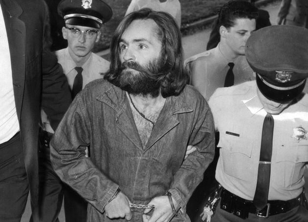 Manson is escorted to court for a hearing in December