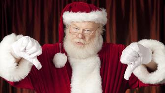 Santa giving the thumbs down.Click Images To View My Christmas Lightbox