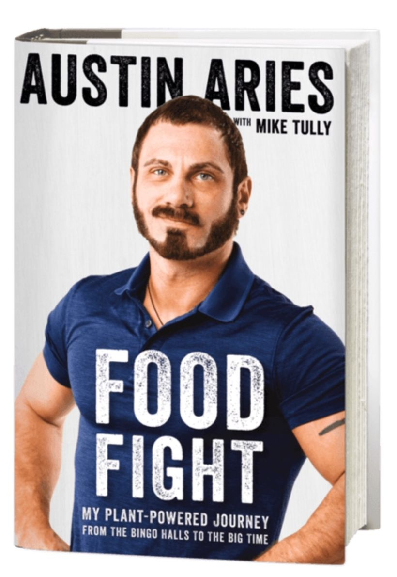 <em>Food Fight: My Plant-Powered Journey From The Bing Halls to The Big Time </em>is available now through Grey Books.