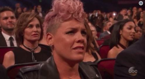 Pink Was Actually 'In Awe' Of Christina Aguilera's AMAs Performance,