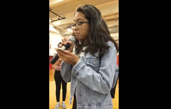 Giselle Mendez, a high school sophomore, took on her congressman during a weekend forum.