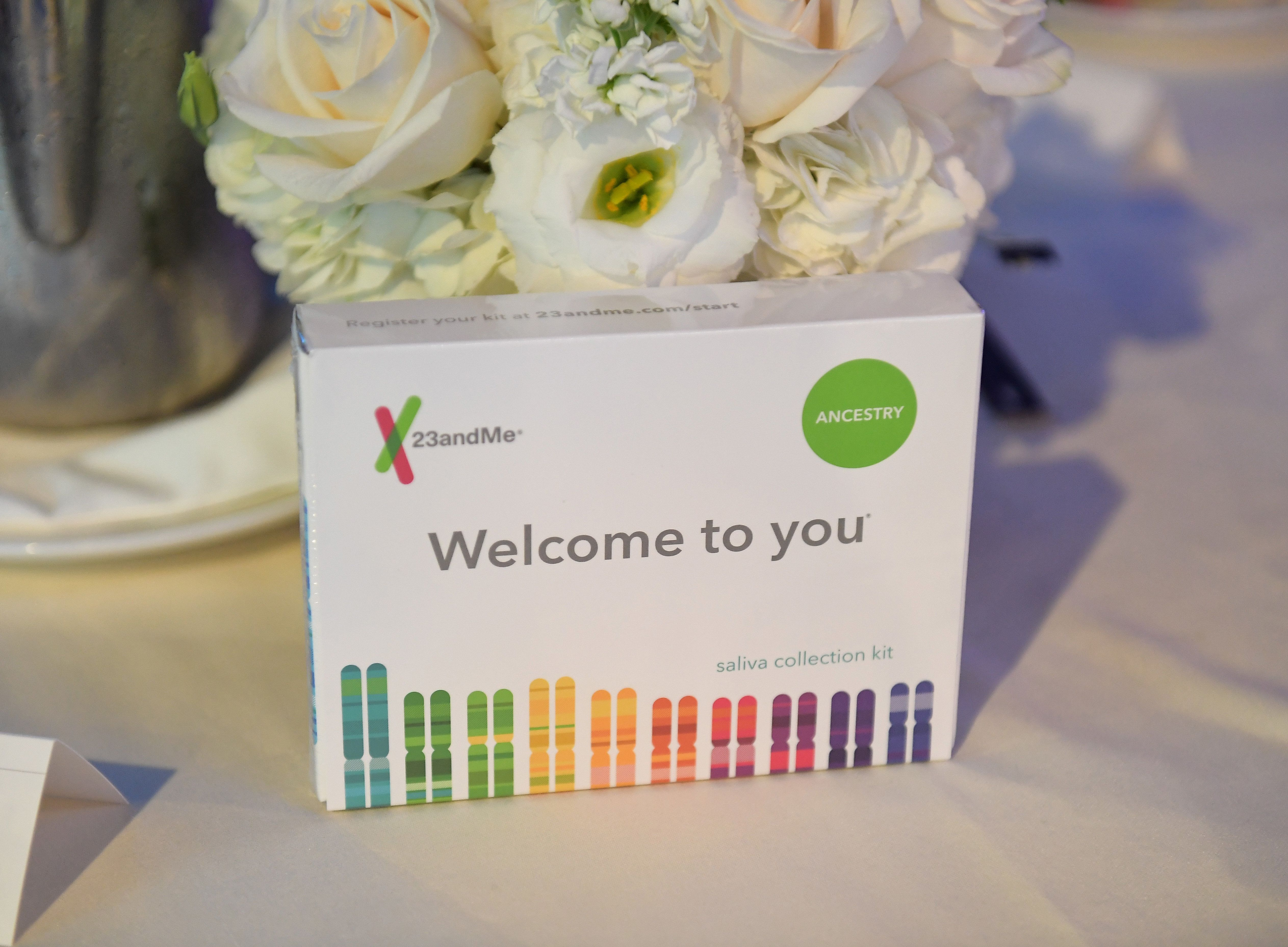 BEVERLY HILLS, CA - SEPTEMBER 26:  23andMe kits at the 2017 Streamy Awards at The Beverly Hilton Hotel on September 26, 2017 in Beverly Hills, California.  (Photo by Matt Winkelmeyer/Getty Images for dick clark productions)