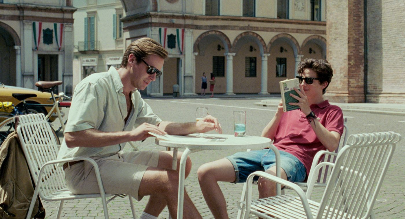 Armie Hammer and Timothée Chalamet in