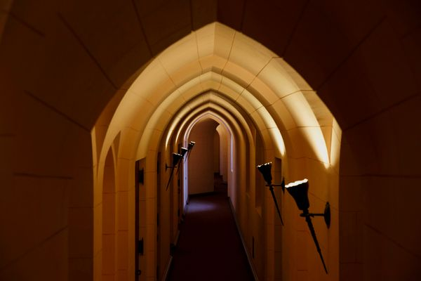 This is the former convent's main hallway.