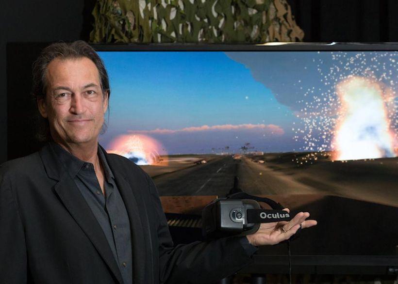 "Skip Rizzo created the ""Bravemind"" VR program for the Dept. of Defense to help treatPTSD."