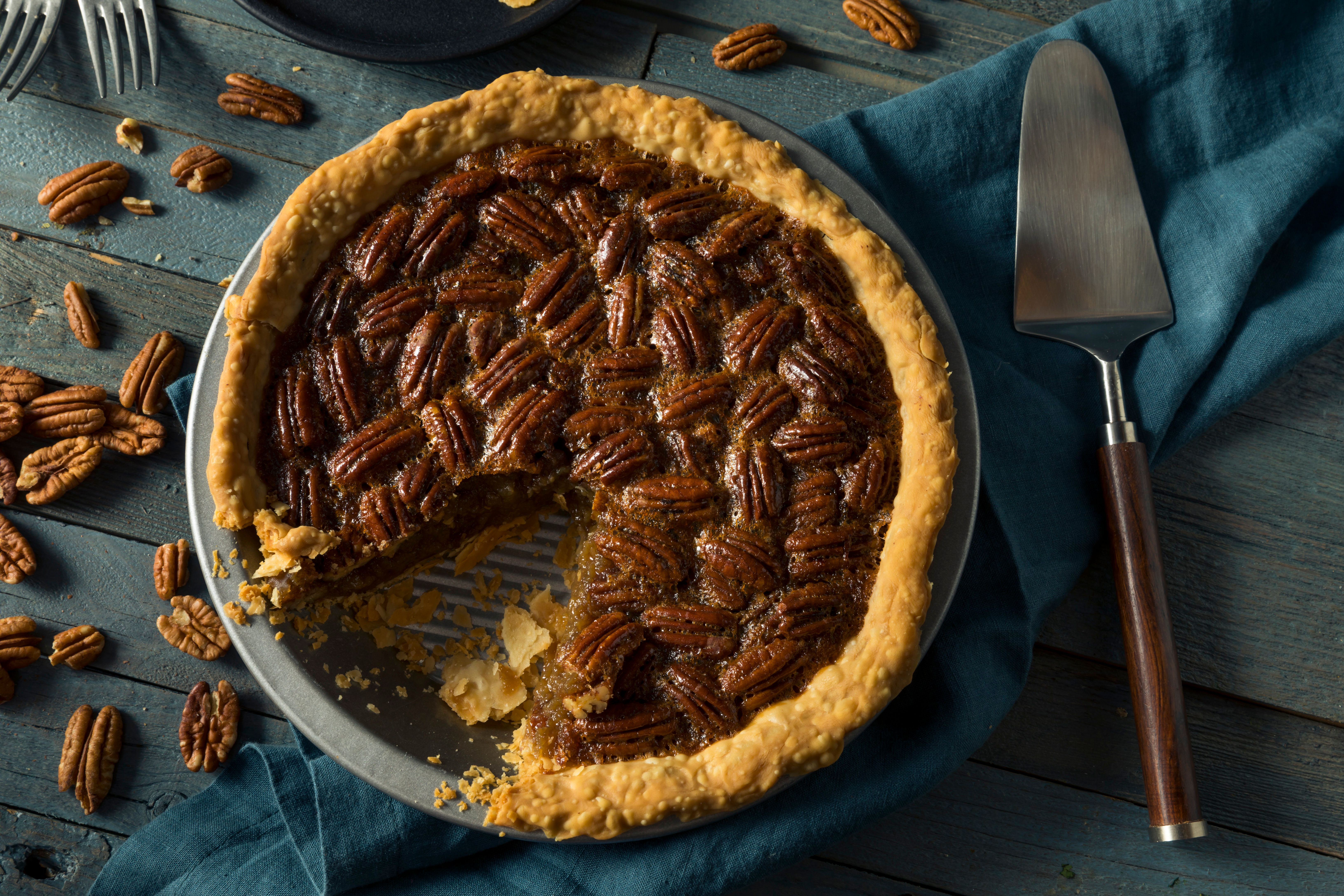 Pecan pie is a Thanksgiving standard in the South.