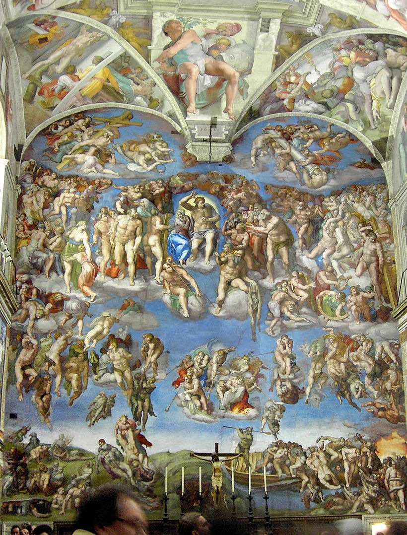Powdered lapis lazuli created the vivid blue colors in Michelangelo's stunning frescoes for the Sistine Chapel.
