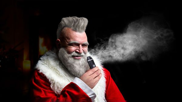 "Santa has often been pictured with a pipe, but, honestly, there's no way he can be that jolly smoking tobacco. <a href=""https"