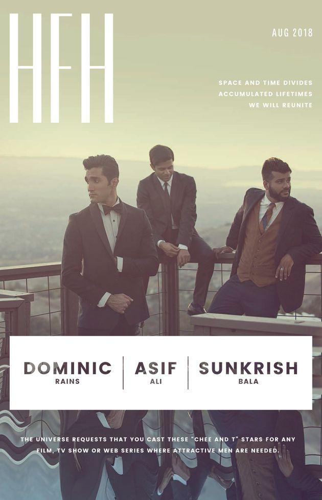 Dominic Rains, Asif Ali and Sunkrish Bala.