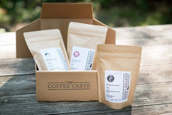 Starts at $30/month. Every Coffee Crate includes three 4-oz. bags of whole-bean coffee from North Carolina, plus an edible tr
