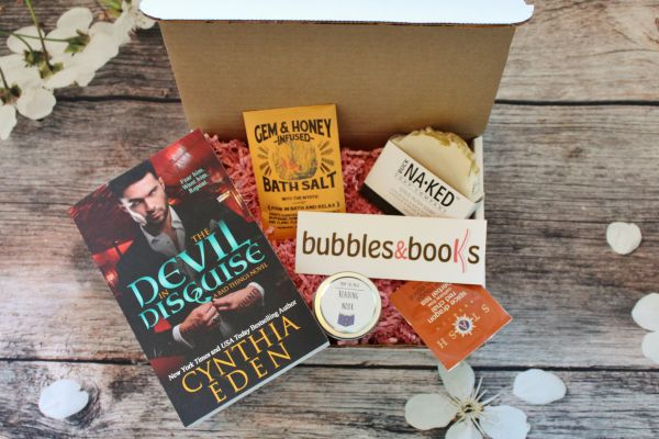Starts at $24/month. Each box contains one romance novel, one artisan soap and 2 to 3 other book or bath related goodies. Get