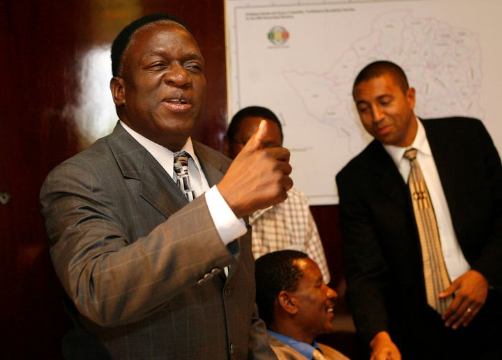 Emmerson Mnangagwa, seen here during elections in 2008, is poised to become Zimbabwe's new leader.