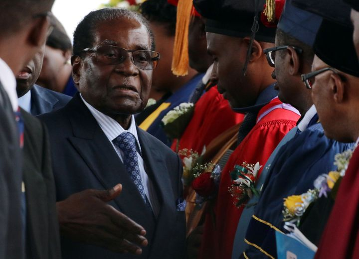 Zimbabwe's Robert Mugabe was the world's oldest serving president before it was announced he was stepping down Tuesday.