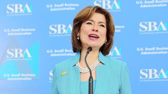 WASHINGTON, DC - MAY 02:  Administrator of the U.S. Small Business Administration Maria Contreras-Sweet speaks on Day 2 of National Small Business Week 2016 at the United States Institute of Peace on May 2, 2016 in Washington City.  (Photo by J. Countess/Getty Images for SBA)