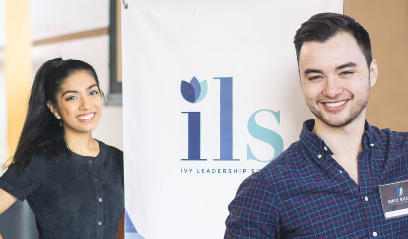 Ivy Council Co-President, Daniel G. Wilson (right), and ILS Conference Director, Dina Chotrani
