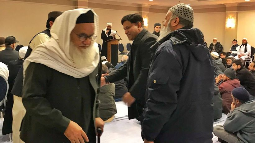 Mufti Habibur Rehman Ludhyanvi, the keynote speaker at the event, had flown in from Pakistan to speak to the gathering.
