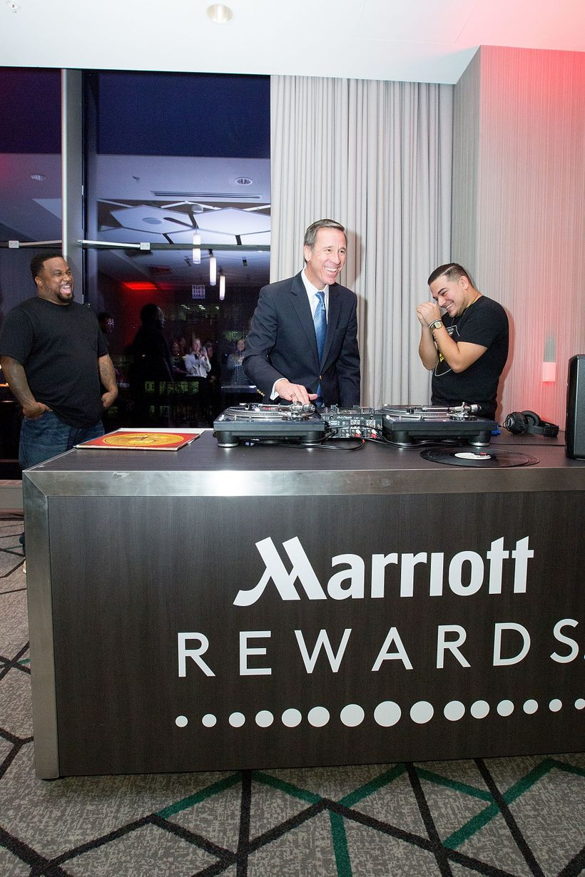 "Marriott Rewards Moments Master Class ""<em>The Art of DJ</em>"" with DJ Terry Hunter, Arne Sorenson, and DJ Ruben aka Boi Jean"
