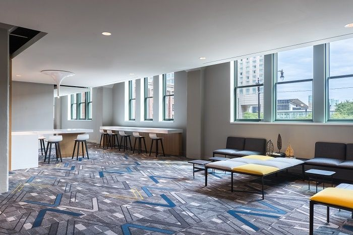 American Book Company's (ABC) breakout communal space at Marquis Chicago.