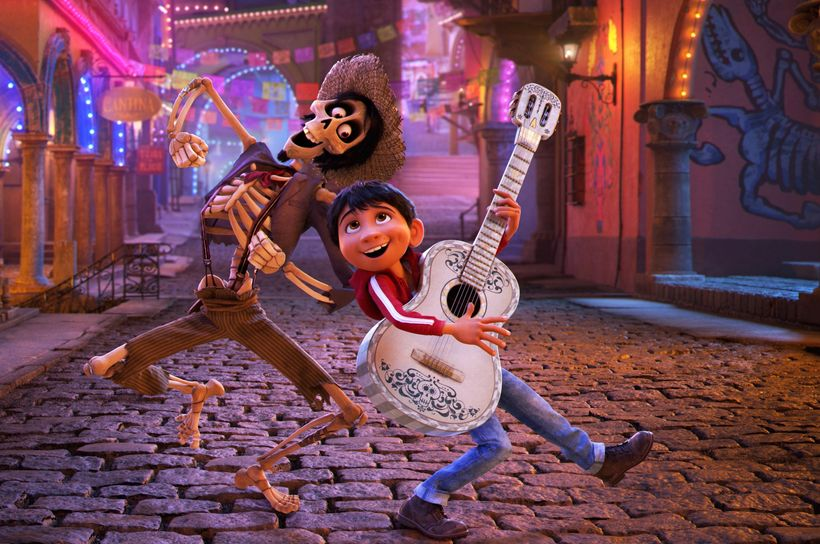 The voices of Gael García Bernal and Anthony Gonzalez grace the animated film <em>Coco</em>.