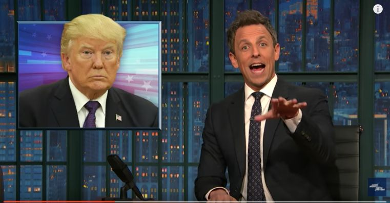 Seth Meyers: 'Wanna-Be Dictator' Trump Gets Into The Feud We've Been Waiting For