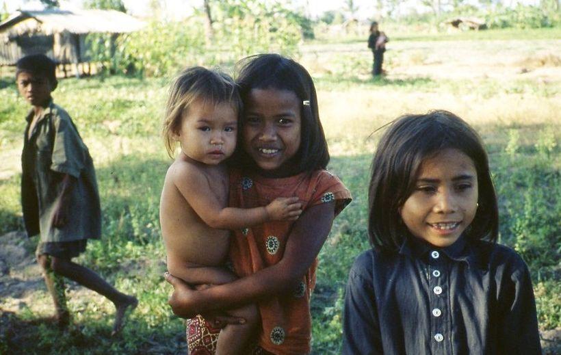 Khmer Children. Rural Cambodia 1980.