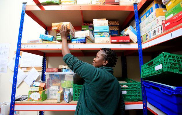 A Trussell Trust foodbank in