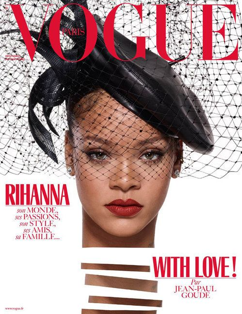 Rihanna is a triple threat on three different covers of vogue paris jean paul goude for vogue paris ccuart Image collections