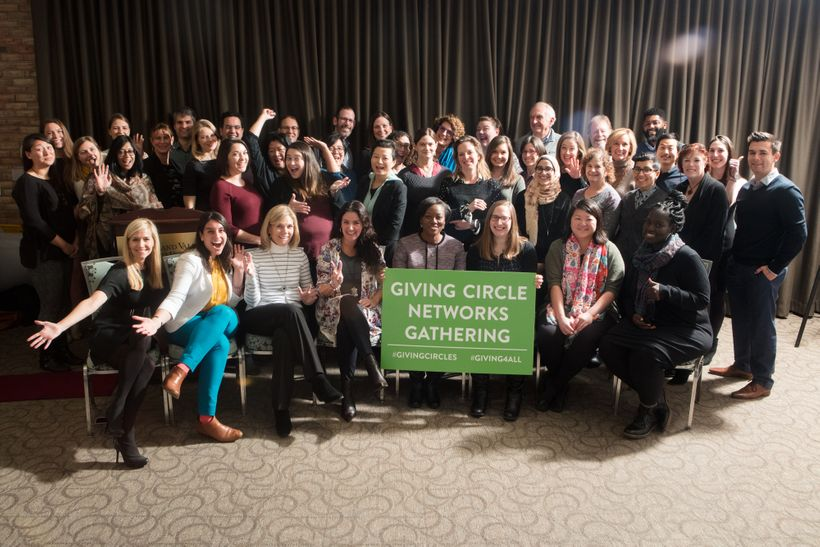 Celebrating a successful first-ever national convening of giving circle networks. Cheers!