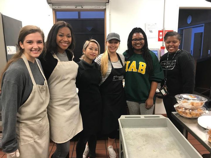 "The University of Alabama Birmingham chapter of Universities Fighting Hunger has joined the ""silent guest"" campaign to help S"