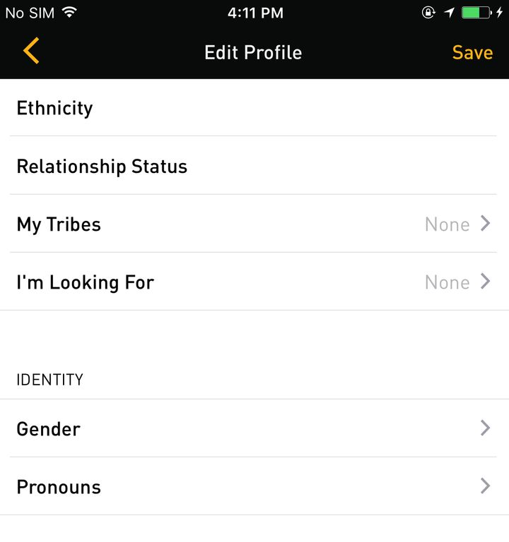 """Grindr users now have their choice of pronouns, with """"He/Him/His,"""" """"She/Her/Hers"""" and """"They/Them/Theirs"""" now available."""