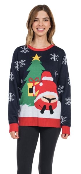 You'll See Santa's Butt On A Lot Of Ugly Christmas Sweaters This