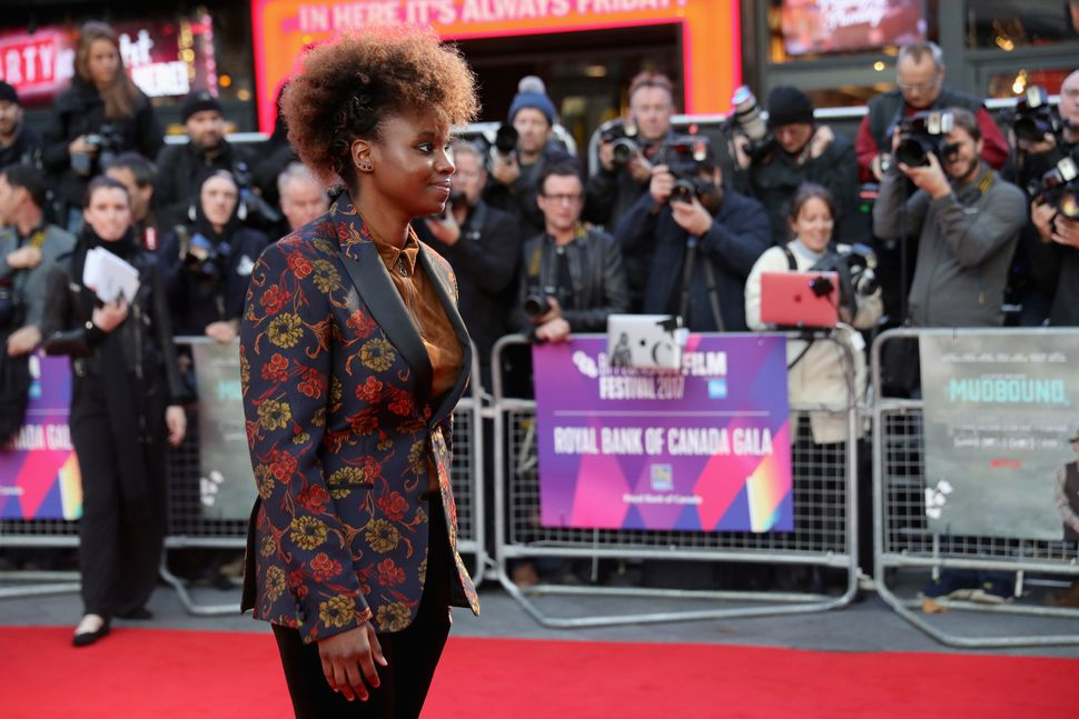 "Dee Rees attends the premiere of ""Mudbound"" at the BFI London Film Festival on Oct. 5, 2017."