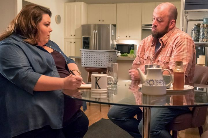 "Chrissy Metz and Chris Sullivan in ""This Is Us."""